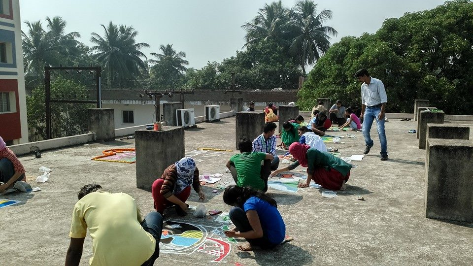Rangoli competion by students at Trytoon Academy 2