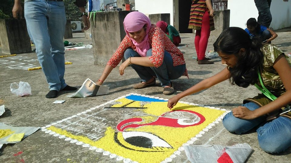Rangoli competion by students at Trytoon Academy 4