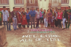 Rangoli competion by students at Trytoon Academy 1
