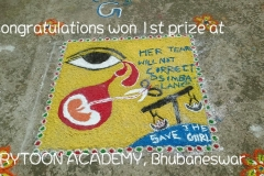 Rangoli competion by students at Trytoon Academy 10