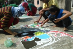 Rangoli competion by students at Trytoon Academy 5