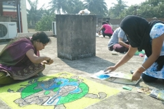 Rangoli competion by students at Trytoon Academy 7