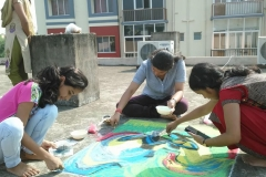 Rangoli competion by students at Trytoon Academy 8