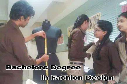 Fashion design degree course