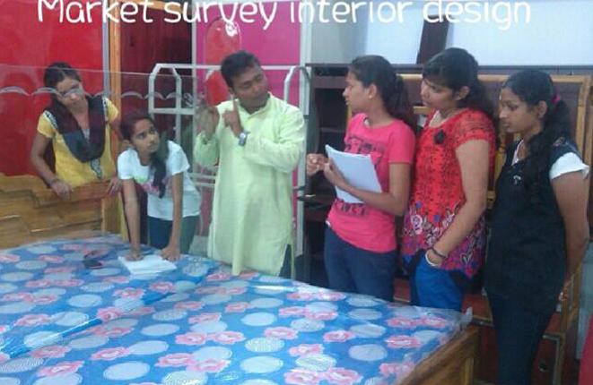 Interior design students industrial visit at Trytoon Academy bhubaneswar