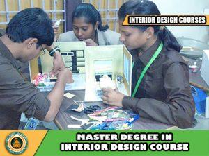 Master's interior designing courses admission