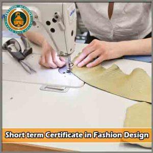 Short term certificate fashion design courses
